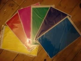 Coloured light bulb gels